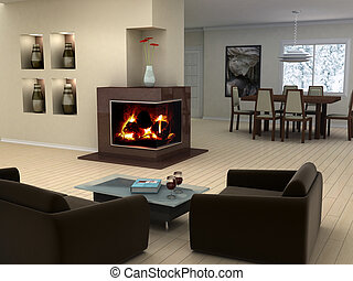 diseño, casa interior