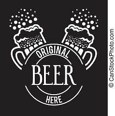 diseño, cerveza