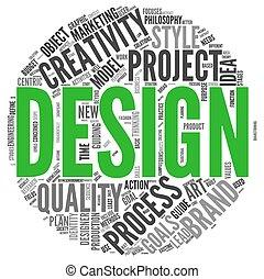 diseño, concepto, en, palabra, etiqueta, nube