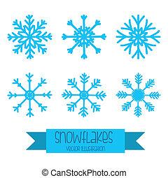 diseño, copo de nieve