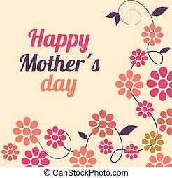 diseño, día, madres