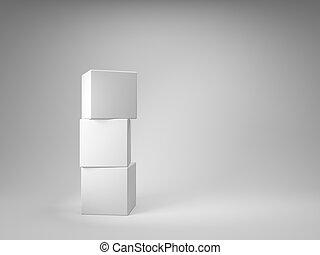 diseño, de, cubos