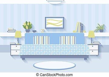 diseño de interiores, dormitorio