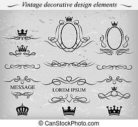 diseño decorativo, elements., vector.