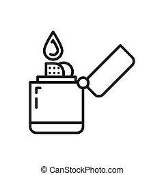 diseño, encendedor, ilustración, zippo