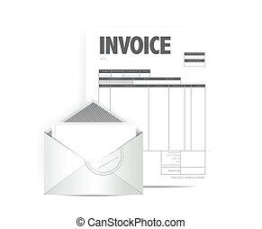 diseño, factura, ilustración