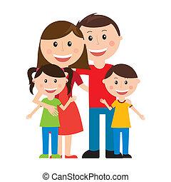 diseño, familia