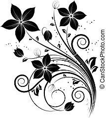 diseño floral, elemento