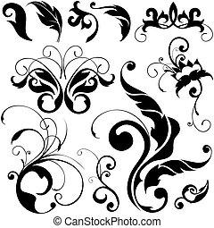 diseño floral, elementos