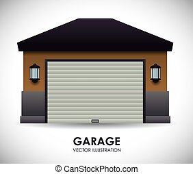 diseño, garaje