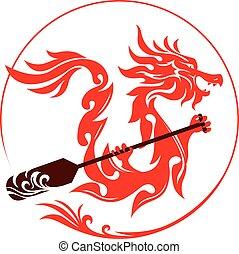 diseño gráfico, dragón
