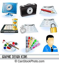 diseño gráfico, iconos