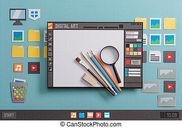 diseño gráfico, software