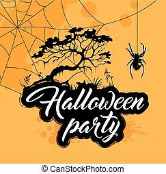 diseño,  Halloween, fiesta