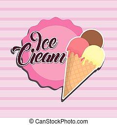 diseño, helado