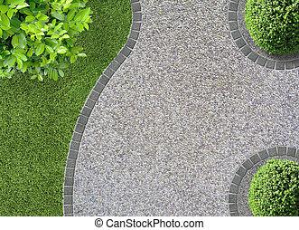 diseño, jardín