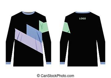 diseño, jersey, sportwear