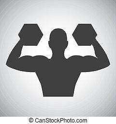 diseño, levantamiento de pesas