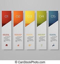 diseño, limpio, número, banderas, template/graphic, o, sitio...