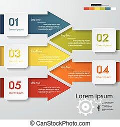 diseño, limpio, número, banners., vector