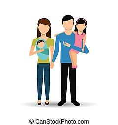 diseño, miembros de la familia
