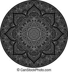 diseño, motivo, patrón, ornamento, mandala, elemento, arte