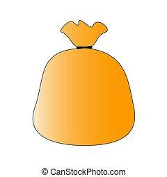 diseño, naranja, bolsa, maravilloso