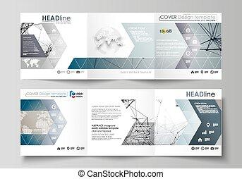 diseño, neurons, resumen, tecnología, cuadrado, vector, ...