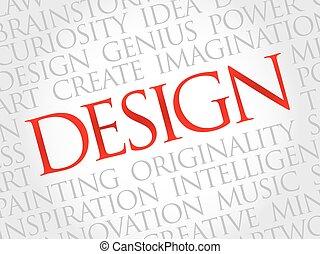 diseño, palabra, nube