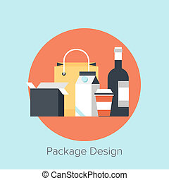 diseño, paquete
