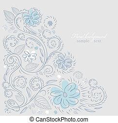 diseño, plano de fondo, florido