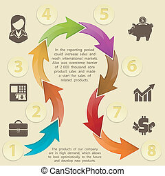 diseño, plantilla, infographics
