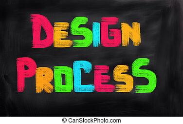 diseño, proceso, concepto