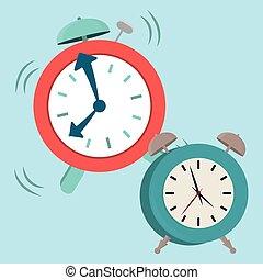 diseño, reloj