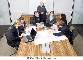 diseño, reunión, equipo