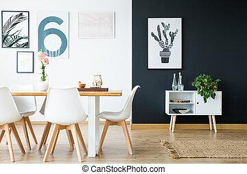diseño, scandi, interior, estilo