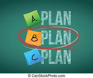 diseño, selección, b, plan, ilustración