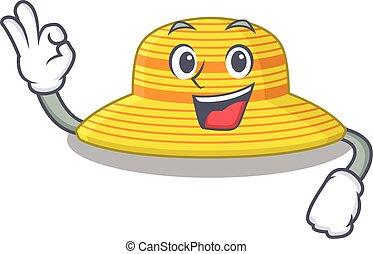 diseño, sombrero, actuación, verano, aprobar, gesto, estilo, dedo, mascota