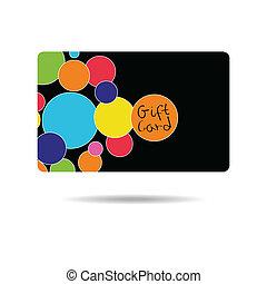 diseño, tarjeta obsequio