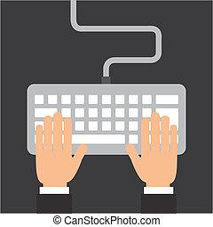 diseño, teclado