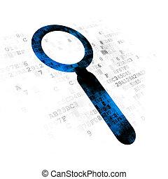 diseño telaraña, concept:, búsqueda, en, fondo digital