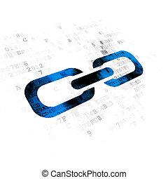 diseño telaraña, concept:, enlace, en, fondo digital