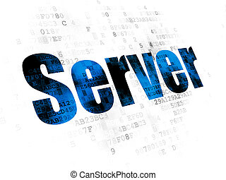 diseño telaraña, concept:, servidor, en, fondo digital