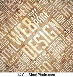 diseño telaraña, -, grunge, beige-brown, wordcloud.