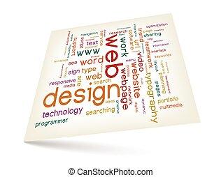 diseño telaraña, palabra, nube