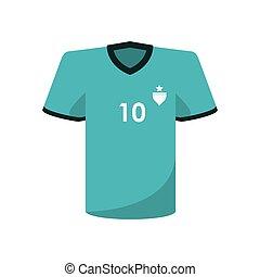 diseño, tshirt, futbol, deporte