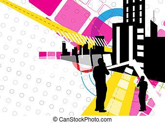 diseño urbano, escena