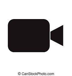 diseño, vídeo, icono, cámara, ilustración