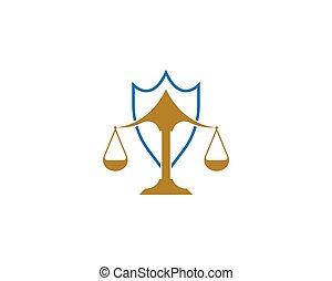 diseño, vector, firma, icono, ley, logotipo, justicia
