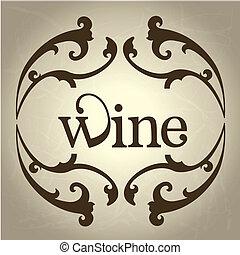 diseño, vino